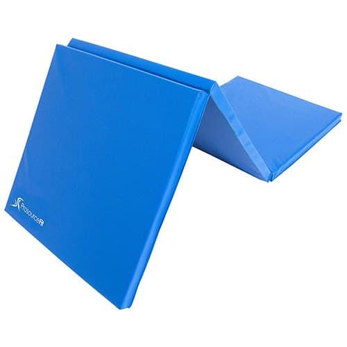 Prosource Fit - Esterilla de Ejercicio Gruesa y Plegable con Asas de Transporte para MMA, Gimnasia, Estiramiento, Ejercicios de núcleo, Azul, Azul