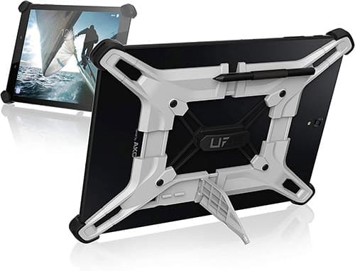 URBAN ARMOR GEAR exoesqueleto 10-Inch Ajuste Universal Tablet Android de Plumas, Blanco