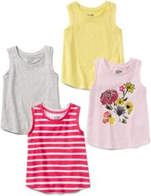 Spotted Zebra Pack de 4 Camisetas sin Mangas. Camiseta para Niñas