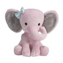 Bedtime Originals Twinkle Toes Pink Elephant Plush, Hazel