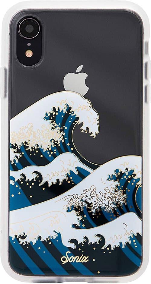 Sonix, Estuche transparente para teléfono celular iPhone iPhone Xr, Clear - Great Tokyo Wave