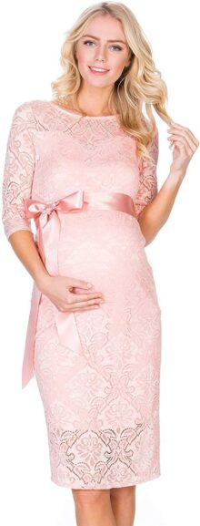 My Bump - Vestido de Maternidad con Encaje para Mujer