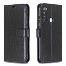 USTIYA Funda para Xiaomi Redmi Note 8 Case, Ranuras Estuche de Cuero con Tapa y Cartera, Carcasa PU Leather con TPU Billetera Case Interna Suave Negro
