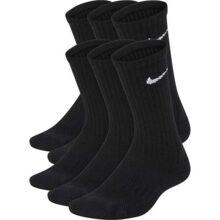 Nike - Calcetines Crew Acolchados para niños, 6 Pares
