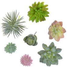 MyGift Plantas suculentas Artificiales Sueltas de 7 Piezas (sin Maceta)