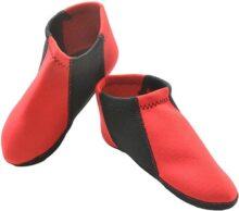 Nufoot Botines para niño, talla juvenil 1 – 3, Red With Black Stripe