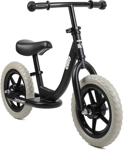 Retrospec Cub Balance Bike No Pedal Kids Bicycle, Matte Black