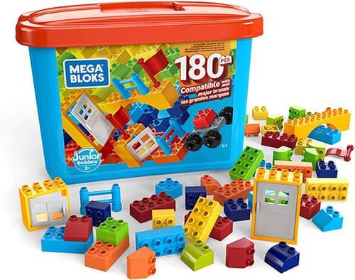 Mega Bloks Preschool Construcción - Infantil Y Preescolar Mega Caja De Construcción Mini 180, +1 Año, Gjd22
