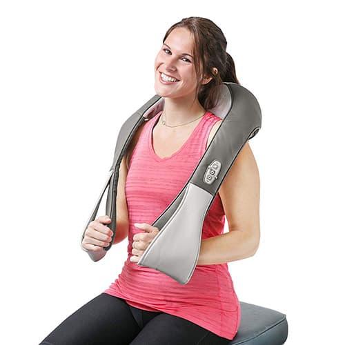 HEALTHMATE IN9530 Shiatsu Cinturón, masajeadores para Cuello, Hombro, Espalda, Cuerpo, piernas y pies con Alivio del Calor, Dolor Muscular, Oficina, hogar y Coche