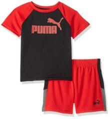 Puma - Conjunto de Playera y pantalón Corto para niño