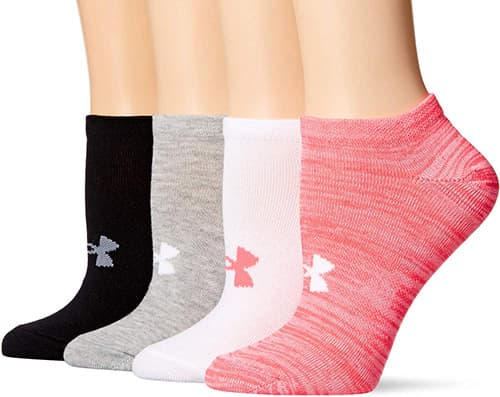 Under Armour Essential Calcetines Invisibles para Mujer, 4 Pares