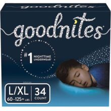 Goodnites Bedtime Pants for Boys, Size Large/Extra Large, 34 Count