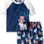 KIKO & MAX Conjunto de Traje de baño para niños con Manga Corta Rashguard Natación Camisa
