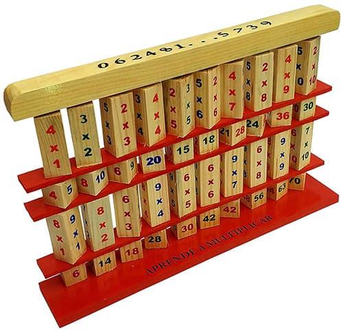 Tabla Didactica de Multiplicar de Madera