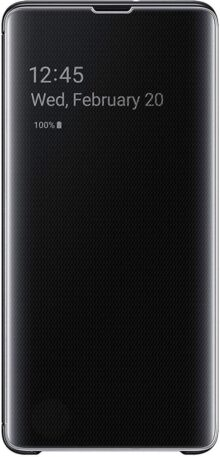 SAMSUNG 887276320656 Flip Cover Clear View G975 GXY S10+ Negro Negro