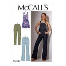 McCall's Patterns M7547A50 - Patrones de costura para jeans y pantalones cortos