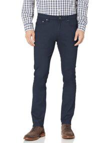 Amazon Essentials pantalones de sarga elásticos ajustados con 5 bolsillos para hombre