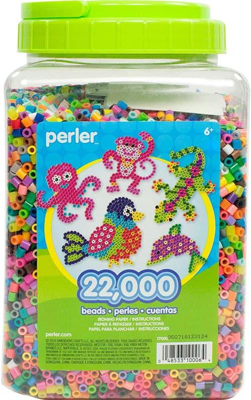 Perler, Tarro con Cuentas para Actividades Multicolores, 22,000 Piezas