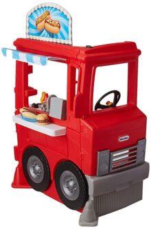 Little Tickes, 2-1 Food Truck, Juguete de Plástico Camión de Cocina, Elegante y Moderno, 1 Camión de Comida con 20 Accesorios Incluidos, Multicolor