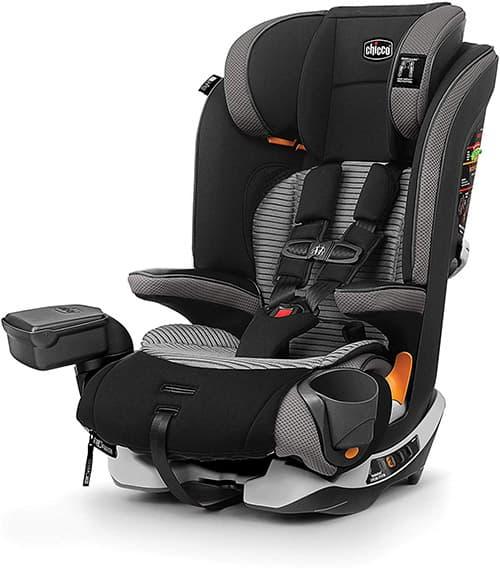Chicco MyFit cierre de cremallera Air Arnés 2 en 1 + asiento de coche elevador para niños pequeños y grandes, arnés de 5 puntos, refuerzo de posicionamiento de cinturón, tejidos con cierre y lavado, malla de aire 3D para transpirabilidad, colección Q