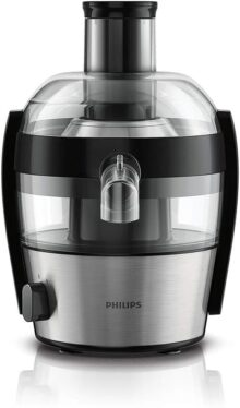 Philips Extractor de jugos compacto metal HR1836/02