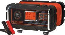 Black & Decker Amp Impermeable Cargador de batería y Mantenedor 4, Negro