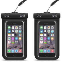 [2-Pack]Funda universal impermeable para iPhone X/8/8 Plus/7/7 Plus/6s/6s Plus/5s, Samsung Galaxy S9 Plus / S9/S8/ S7/S6/Edge,Moto,Huawei, Xiaomi Mi A1, LG,Xiaomi,Sony, etc. iPhone para Movil Universal de 6 Pulgadas