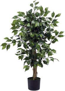 nearly natural 5298Ficus árbol de la seda, 3-Feet, verde