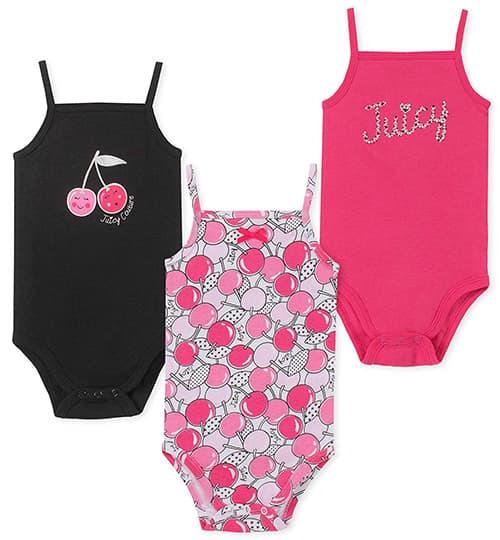 Juicy Couture - Conjunto de 3 Monos para bebé