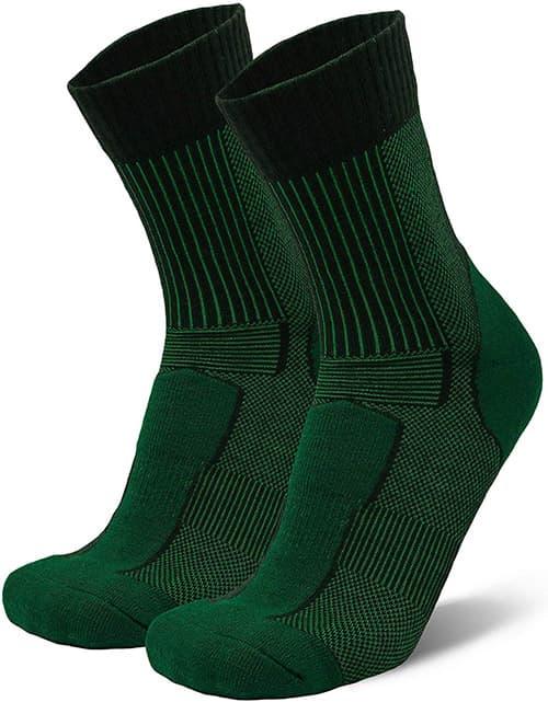 Calcetines de lana de merino ligeros 3/4 para senderismo, trekking, exteriores, hombres y mujeres