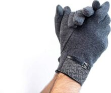 CLEPSIDRA. Guante hombre de tela para el frio, para pantallas táctiles, elegantes, lujosos, para conducir, para exteriores, juveniles, modernos, térmicos, calidos, para invierno. Touchscreen men´s gloves for winter.