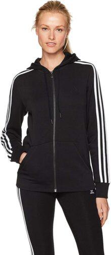 Adidas Essentials - Sudadera con Capucha y Forro Polar de algodón con Cierre Completa