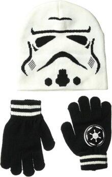Star Wars Storm Trooper - Juego de Gorro y Guantes de Punto
