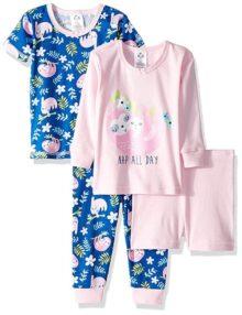 Gerber - Pijama de 4 Piezas para bebé