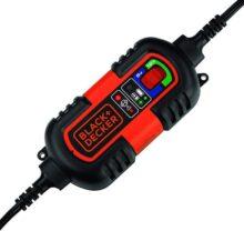 Black+Decker BM3B Cargador de batería Totalmente automático de 6 V/12 V con Abrazaderas de Cable y terminales de Junta tórica