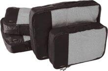 AmazonBasics Bolsas organizadoras de equipaje, 4 piezas (2 medianas y 2 grandes)
