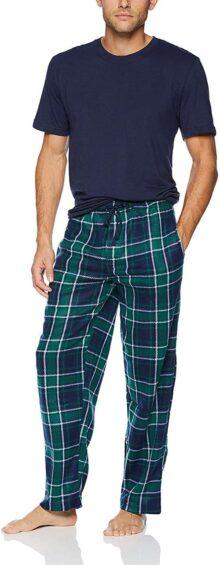 Varsity - Conjunto de Pijama para Hombre (Forro Polar, Talla L), Color Gris