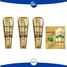 Pantene Pantene Pro-v 3 Minute Miracle Para Hidratación Extrema 170 Ml + 3 Ampolletas 15 Ml con u, color Hidratación, 1 count, pack of/paquete de