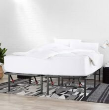 AmazonBasics Marco de plataforma para cama, negro, Twin XL