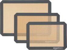 AmazonBasics Alfombrilla de silicona para hornear, paquete de 3