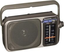 Panasonic RF-2400 Portátil Negro - Radio (Portátil, Am, FM, 88-108 MHz, 530-1600 kHz)