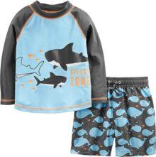 Simple Joys por Carter's Traje de baño de 2 Piezas para bebé y niño pequeño Tronco y Rashguard