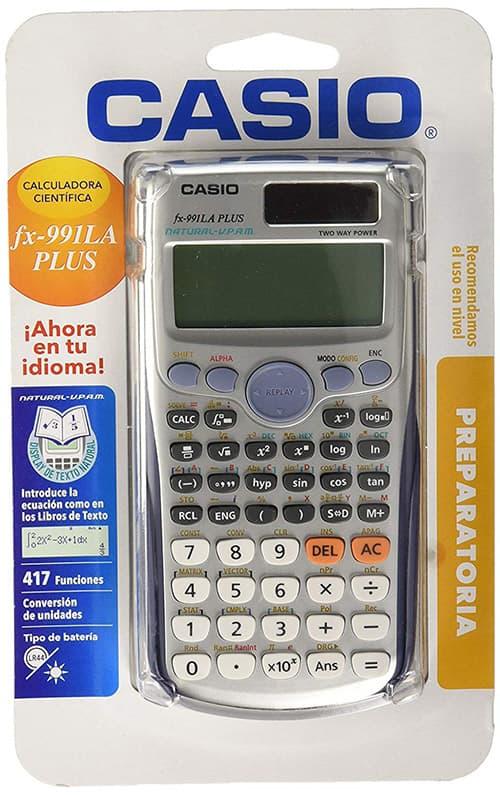 Casio, Calculadora Científica, FX-991LAPLUS-SC-MH, Gris