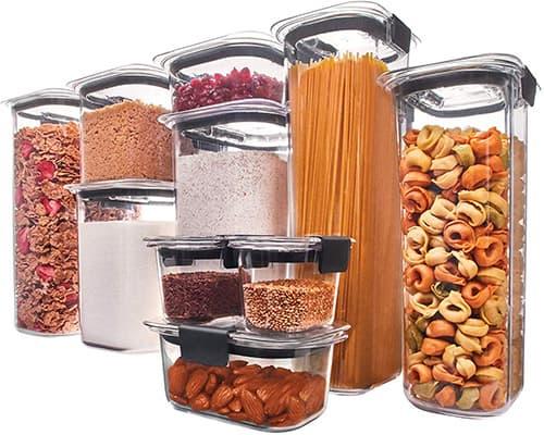 Rubbermaid Brilliance Contenedor hermético para almacenamiento de alimentos, Juego de 20 piezas