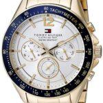 Reloj Tommy Hilfiger para Hombres 46mm, pulsera de Acero Inoxidable