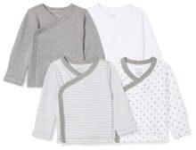 Moon and Back - Juego de 4 Camisetas de Manga Larga orgánicas para bebé