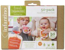 Bolsas para exprimir Infantino, 50 paquetes de bolsas, 50 Unidades
