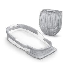 "Baby Delight Snuggle Nest Afterglow - Saco de dormir portátil para bebé, Misty Dandelions, 28.5"" x 14"""