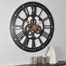 FirsTime & Co. Reloj de Pared de Engranaje Romano, 24 Pulgadas, Bronce aceitado