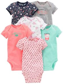 Simple Joys by Carter's Baby Girls 6-Pack Body de Manga Corta